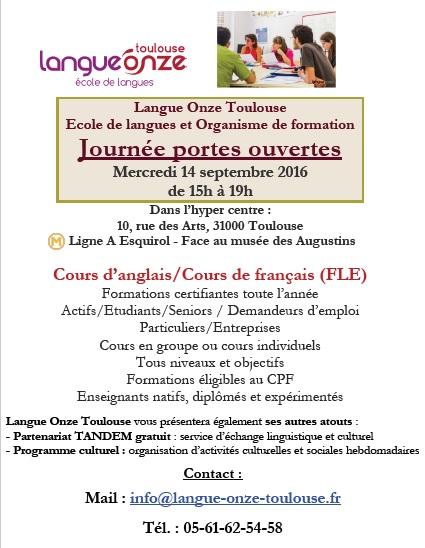 Journée Portes Ouvertes à Langue Onze Toulouse